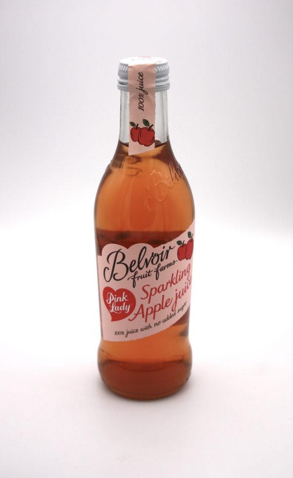 belvoir soft drink bottle on white background