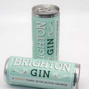 Can of Brighton Gin and Tonic with Blood Orange