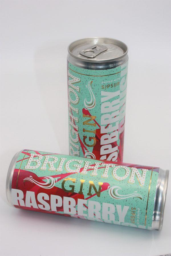 Can of Brighton Gin Raspberry Crush