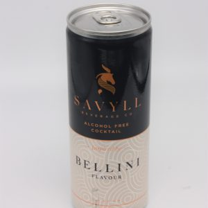 savyll belini alcohol free coctail on white background