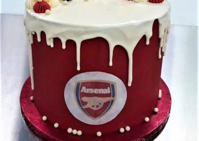 customer celebration football cake