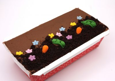 Large garden party chocolate loaf cake