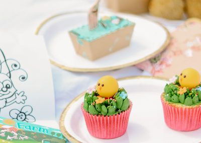 Easter children afternoon tea items