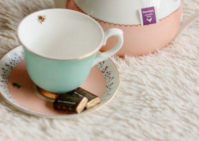 Pot and tea cup of tea pigs tea