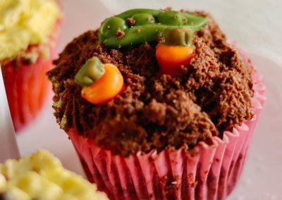 Garden party cupcake