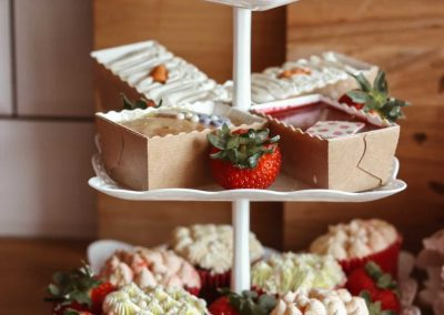 afternoon tea on cake stand