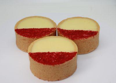 Sweet tarts on white background