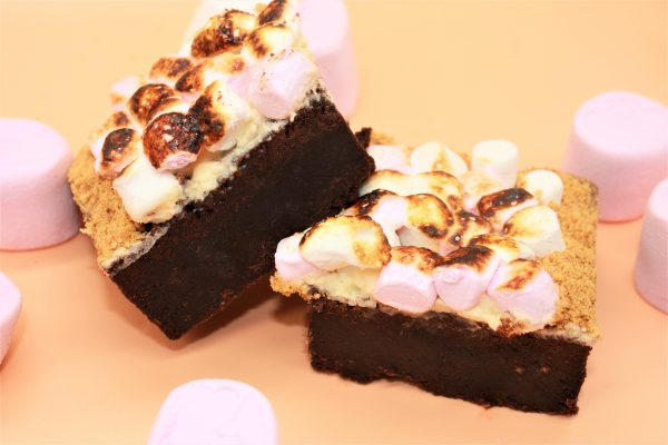 autumn smores brownies with marshmallows