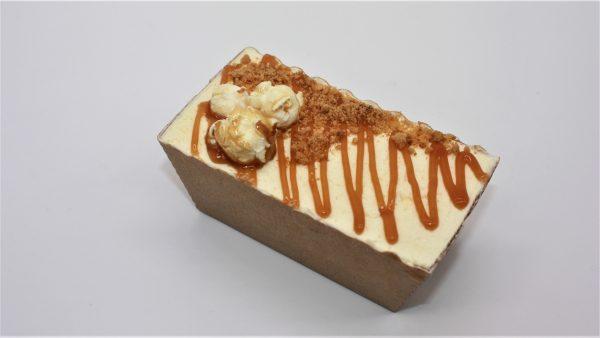 autumn spiced apple loaf cake mini white background