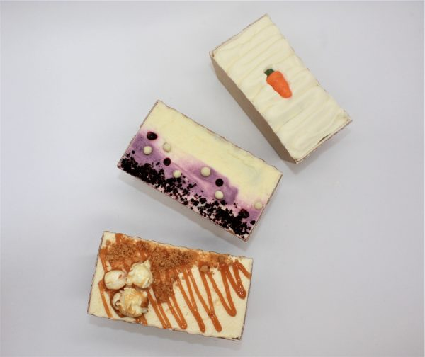 autumn mini loaf cakes, carrot, blackcurrant and apple