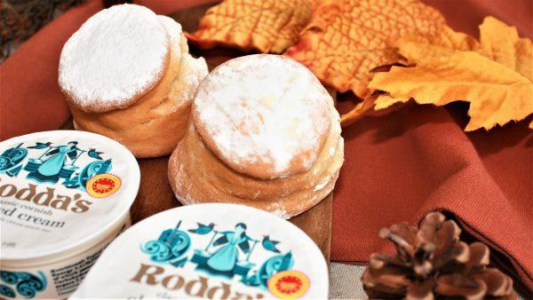 autumn scones with cream