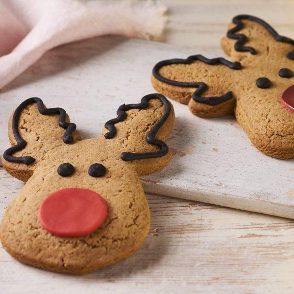gingerbread reindeers with red noses
